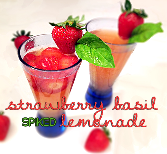 Strawberry Basil Spiked Lemonade
