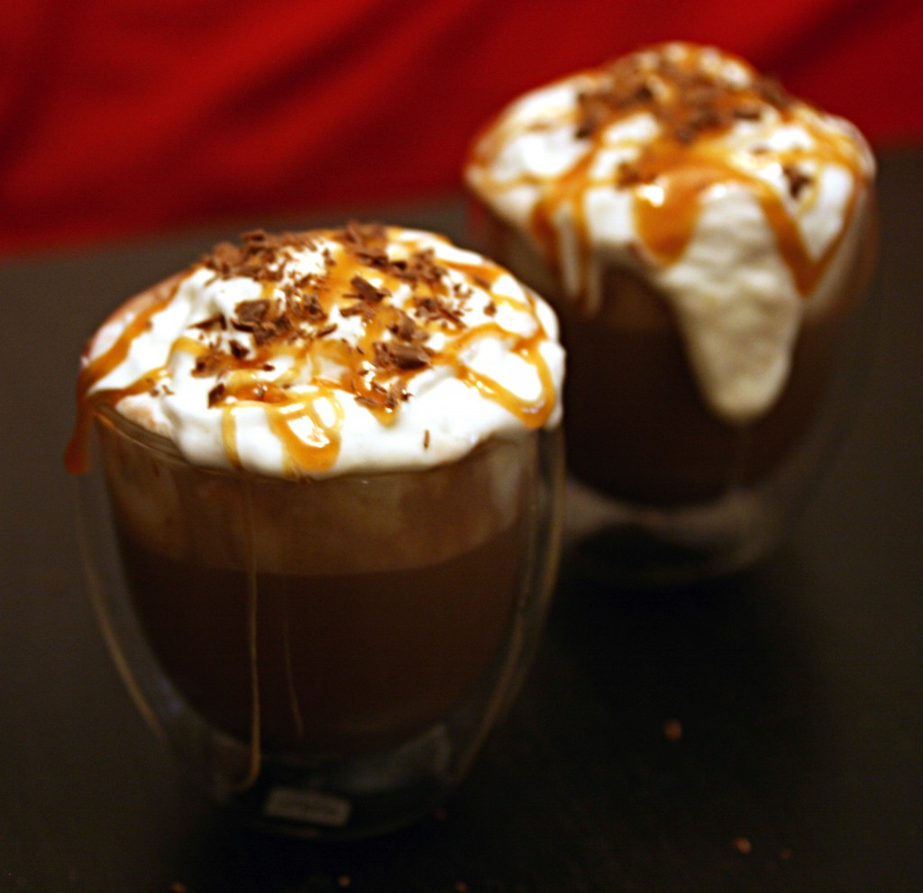 Adult Salted Caramel Hot Chocolate Floats - Host The Toast