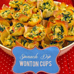 Spinach Dip Wonton Cups