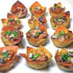 Asian Sesame Ginger Chicken Wonton Cups