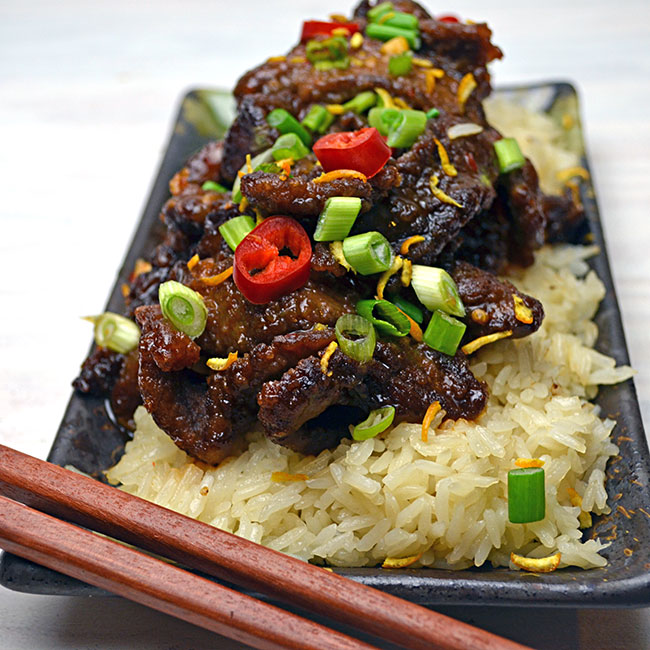 Spicy, Crispy, Orange Beef