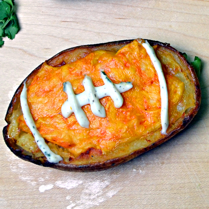 Buffalo Chicken Potato Skin