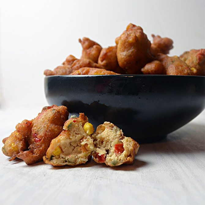Sweet and Spicy Corn Fritters