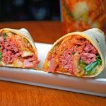 Corned Beef and Kimchi Burritos