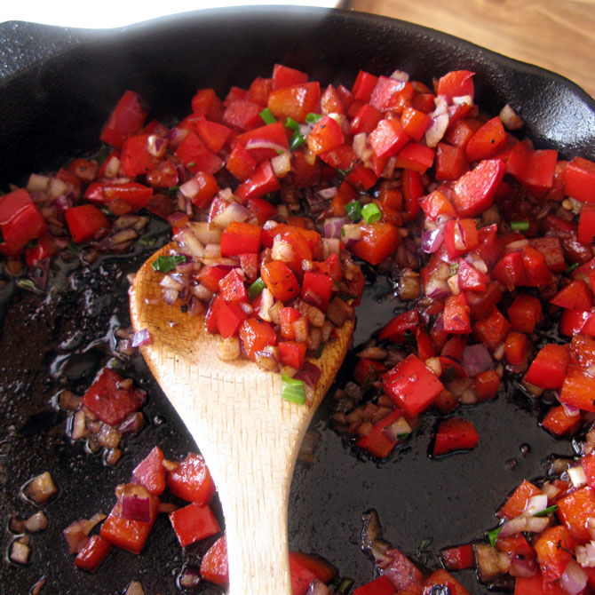 Sauteed Red Peppers