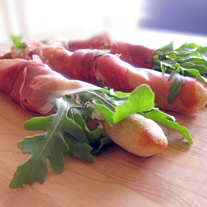 Quick and Easy Prosciutto-Wrapped Breadsticks