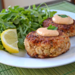 Maryland Crab Cakes with Horseradish-Sriracha Remoulade