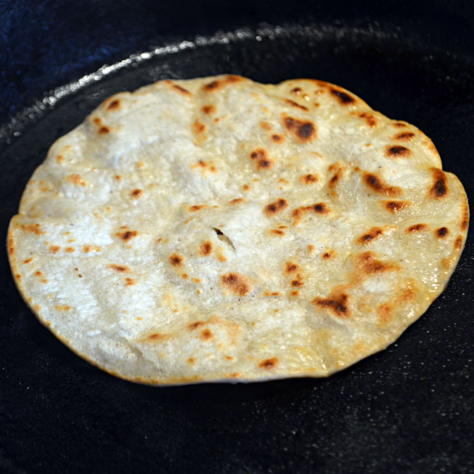 Toasting Tortillas for Tacos Al Pastor