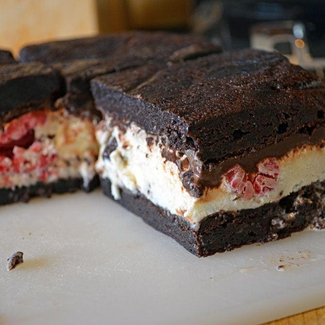 Dark Chocolate Brownie Ice Cream Sandwiches - Host The Toast