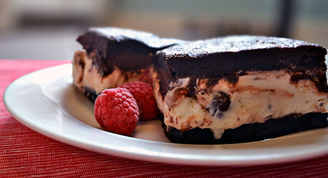 Dark Chocolate Brownie Ice Cream Sandwiches