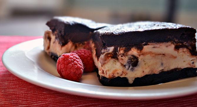 Dark Chocolate Brownie Ice Cream Sandwiches