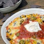 Cheesy Baked Rice n' Bean Dip