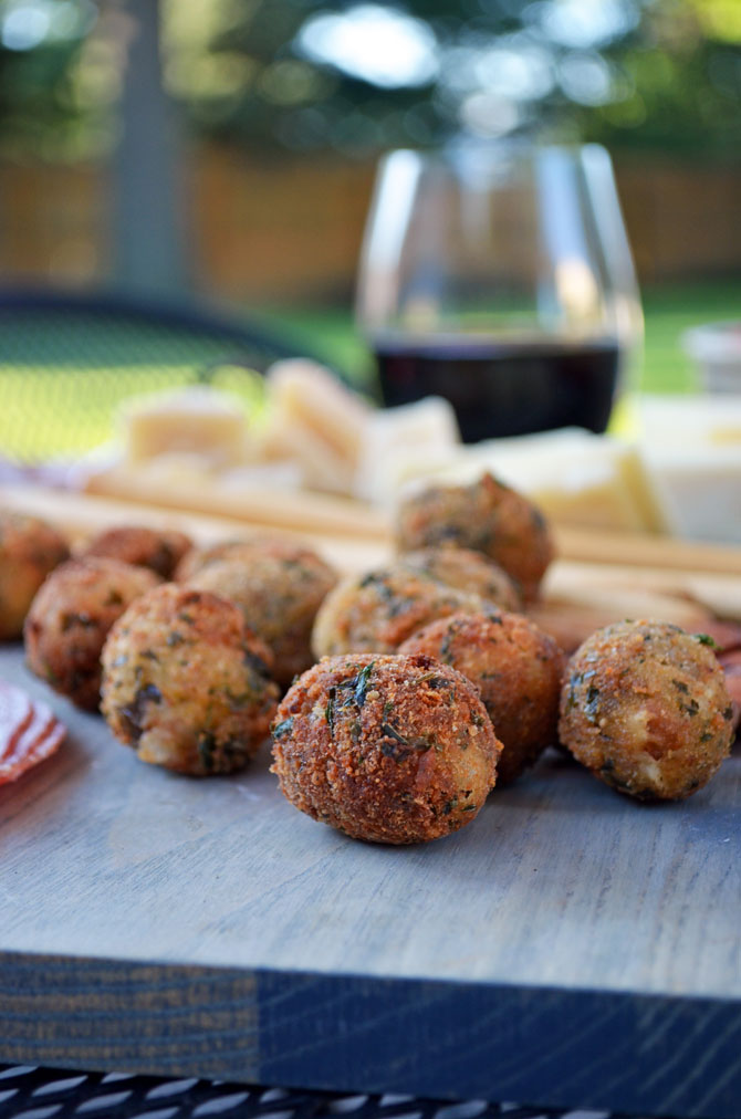 Fried Olives Stuffed with Italian Sausage and Goat Cheese - Host The ...