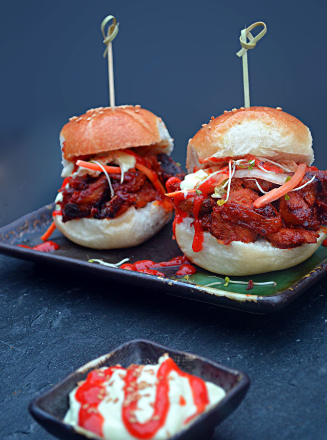 Spicy Pork Bulgogi Sliders