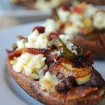 Bacon Blue Cheese Burger Skins