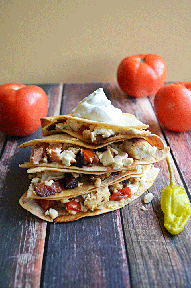 Athenian Chicken Quesadillas