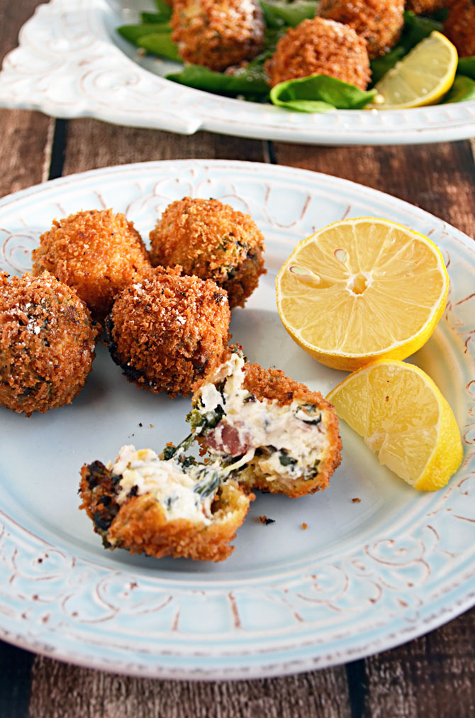 Fried Spinach Dip Bites
