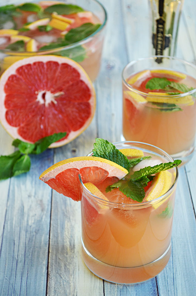 Ruby Red Champagne Punch.  It's perfect for New Year's Eve and easy to throw together!