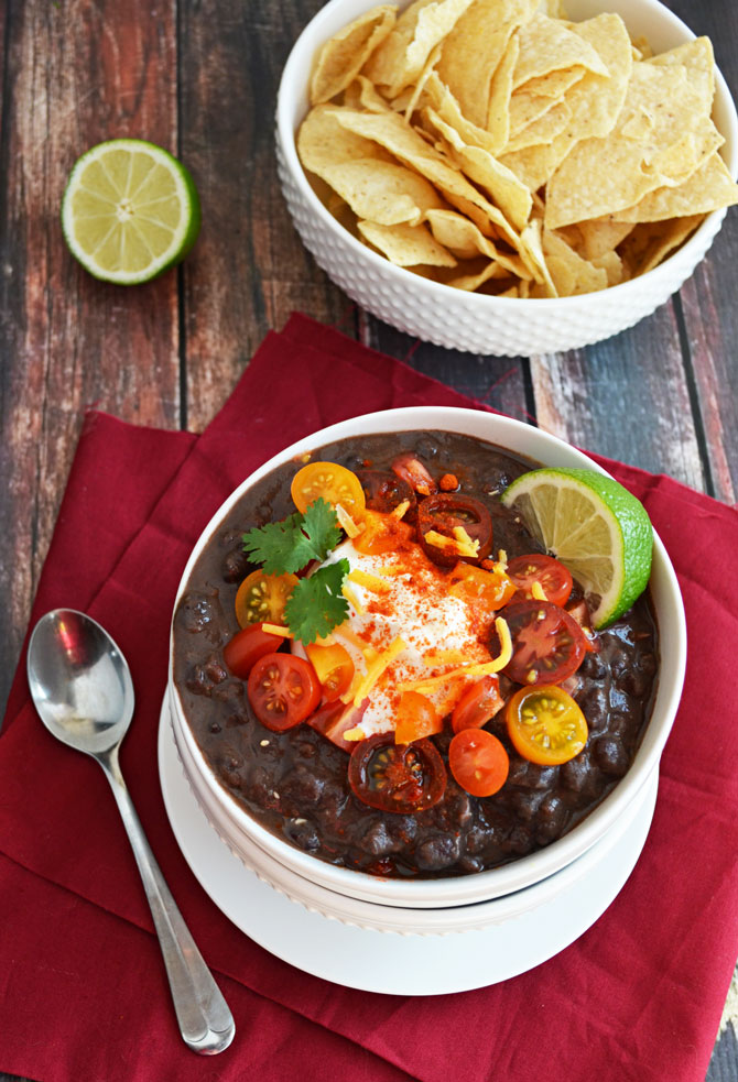 Spicy Black Bean Soup. So delicious-- like Panera Bread's Black Bean ...