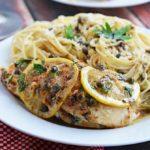 "Spinach and Ricotta Stuffed ""Chicken Piccata"""