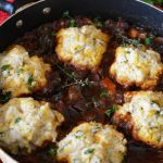 Guinness Beef Stew with Cheddar Herb Dumplings