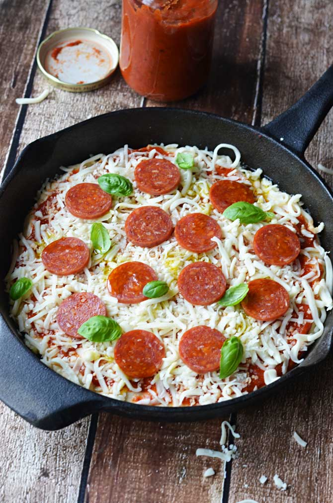 Best Ever No-Knead Pan Pizza.  There's no stretching, no kneading, just easy, glorious pizza crust!  Try it!   hostthetoast.com