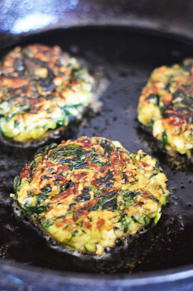 Zucchini, Feta, and Spinach Fritters with Garlic Tzatziki - Host The ...