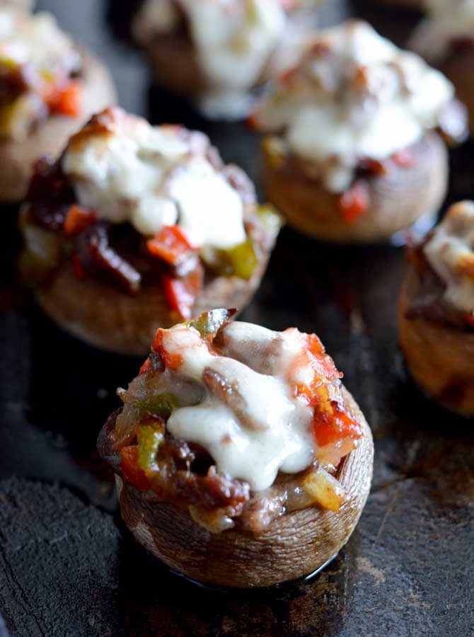 Cheesesteak Stuffed Mushrooms
