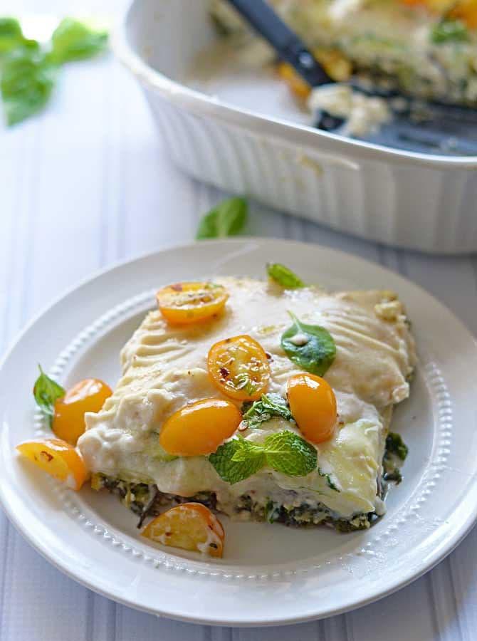 Mediterranean Vegetable Lasagna
