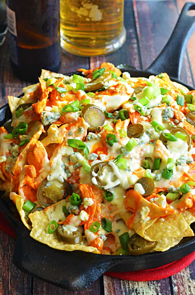 Loaded Buffalo Chicken Nachos. Could this be any more perfect for ...