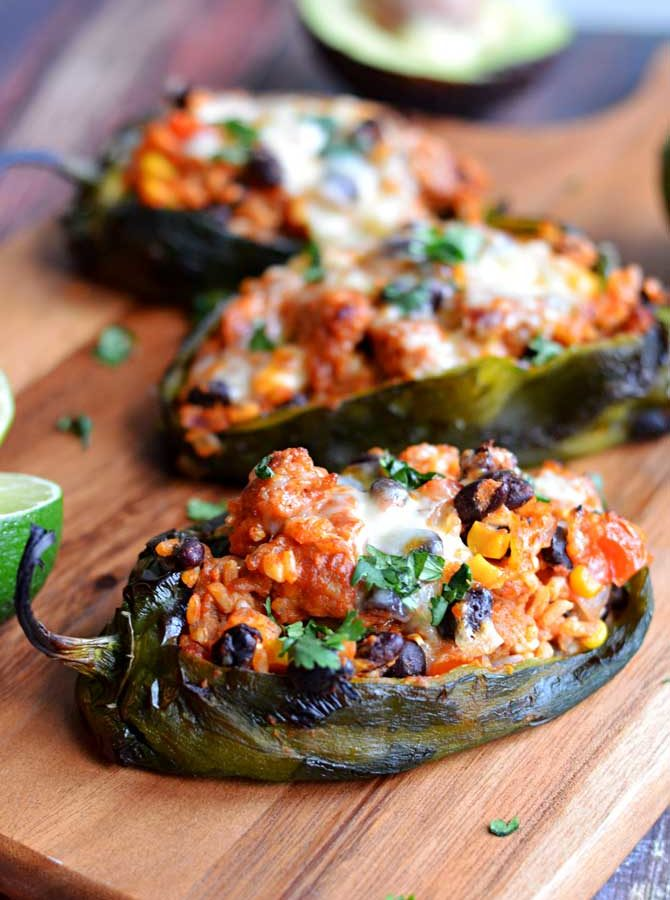 Mexican Stuffed Peppers (Chorizo-Stuffed Poblanos), R-R-R-Remix