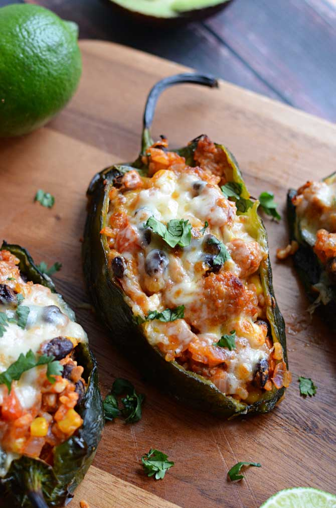 Mexican Stuffed Peppers (Chorizo-Stuffed Poblanos), R-R-R-Remix - Host ...