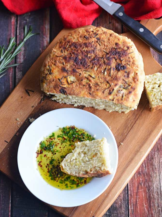 Rosemary Olive Oil Crock Pot Bread