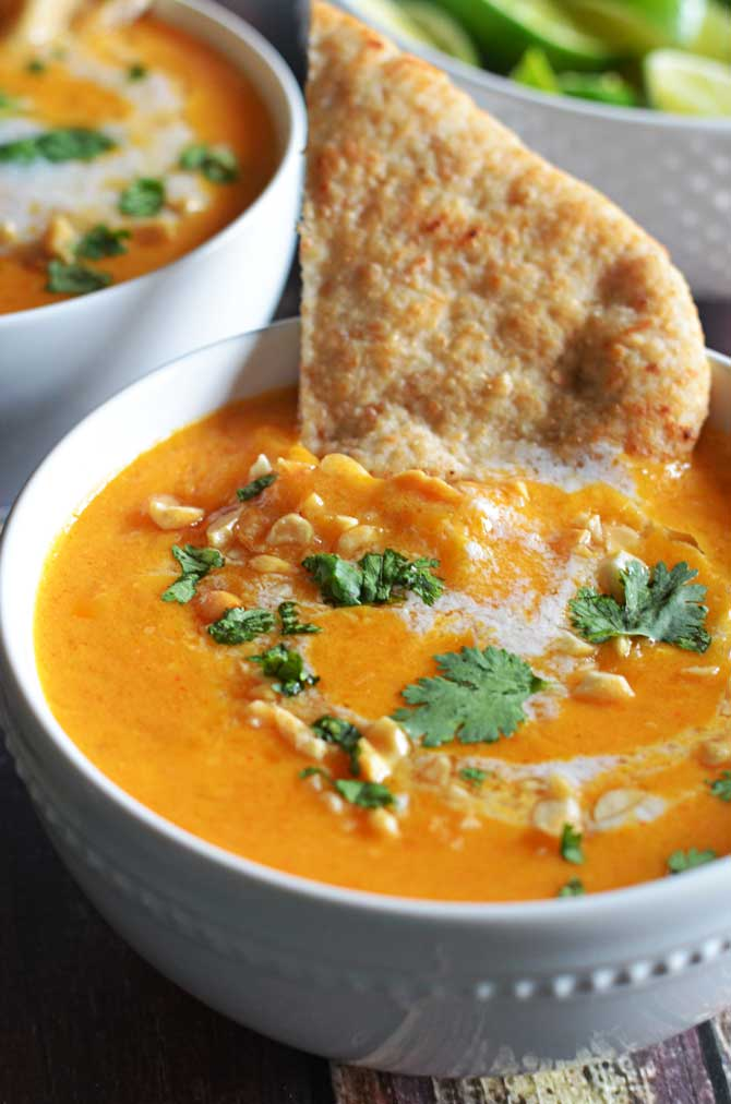 Thai Coconut Curry Butternut Squash Soup. I'm obsessed! So flavorful ...
