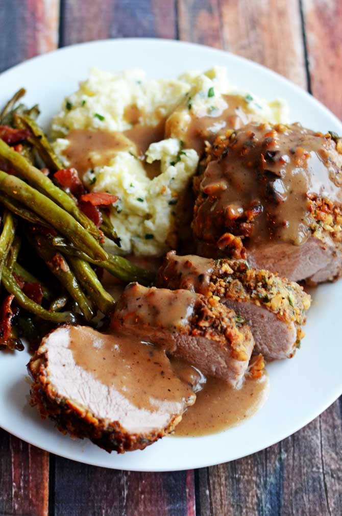 Molasses Roasted Pork Tenderloin With Sweet Potatoes, Apples And ...