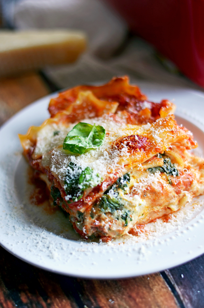 Four Cheese Sausage & Spinach Lasagna. Everyone says this is the BEST ...