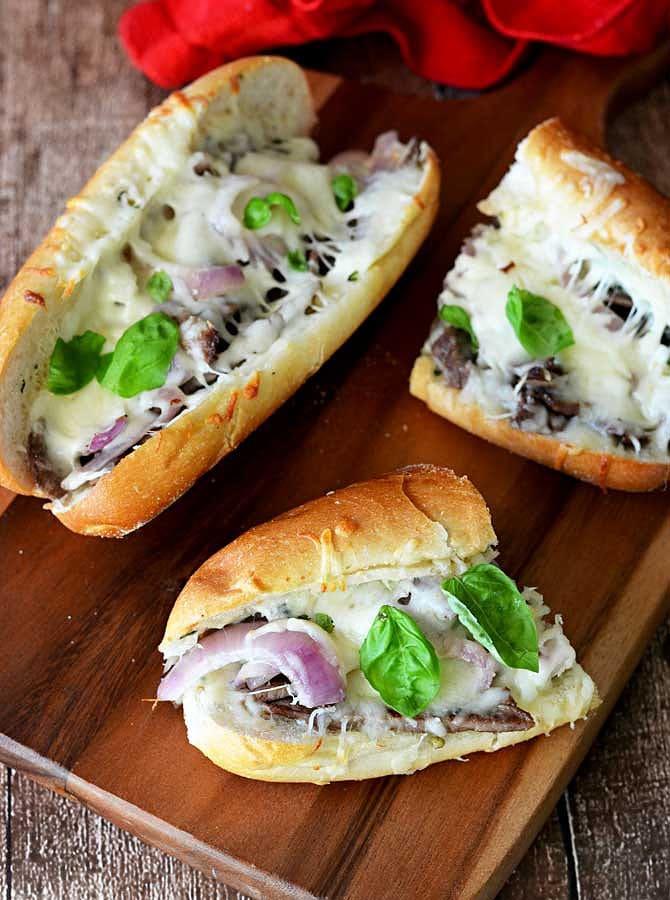 Ultimate Herbed Garlic Bread Cheesesteaks