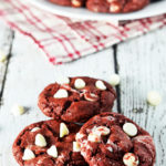 Red Velvet Cream Cheese Swirl Cookies