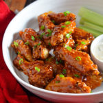 Crispy-Skinned Baked Chicken Wings + Honey Chipotle Garlic Sauce