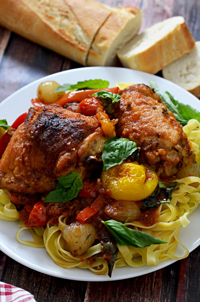 Chicken Cacciatore.  This rustic, deeply flavorful dish will become a favorite in your house or for date night.  Who knew comfort food could be so sexy? | hostthetoast.com