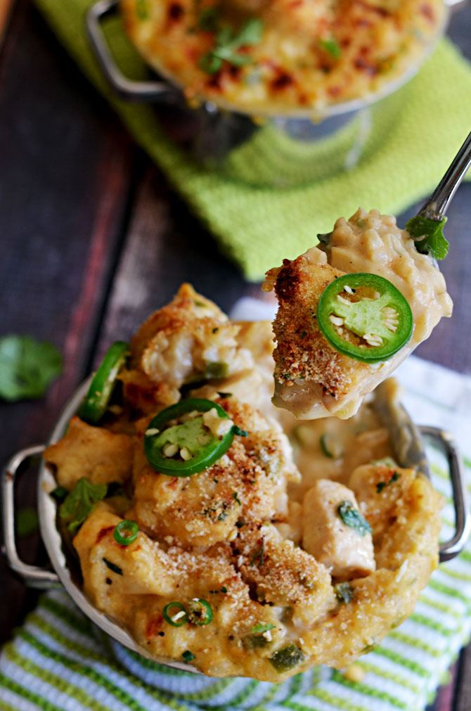 One Pot Creamy Jalapeno Popper Chicken and Rice.  I could eat this forever.   hostthetoast.com