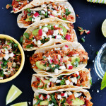 Crock Pot Chicken Tinga Tacos with Bacon Pico De Gallo