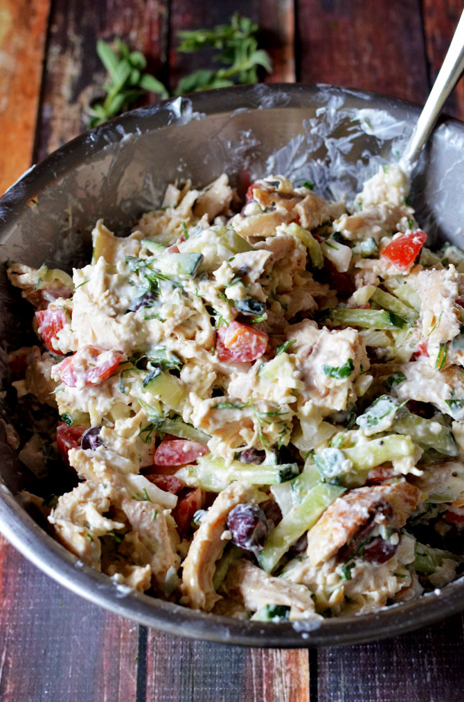 Easy greek tzatziki chicken salad host the toast easy greek tzatziki chicken salad delicious check easy check healthy forumfinder Images