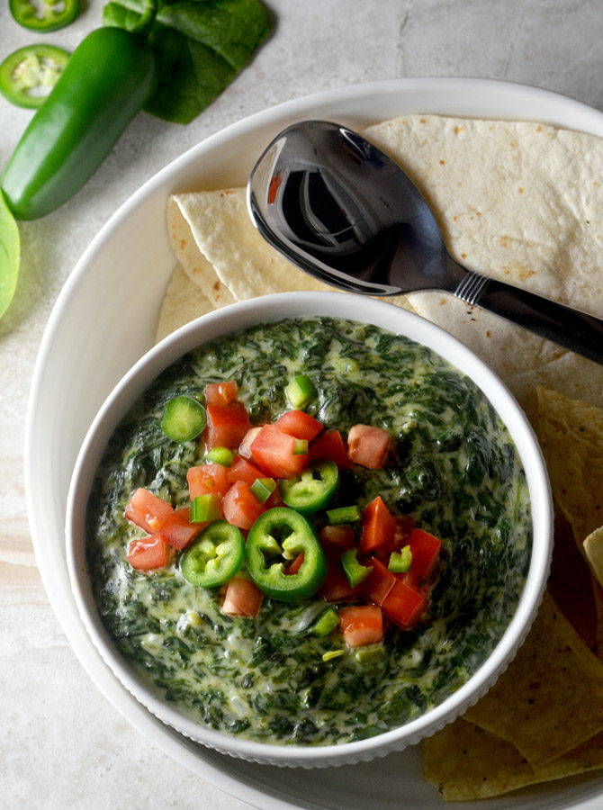 Jalapeño Queso Blanco Creamed Spinach