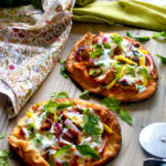 Tandoori Chicken Naan Pizza