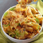 Spicy Caramelized Fennel Rigatoni Carbonara