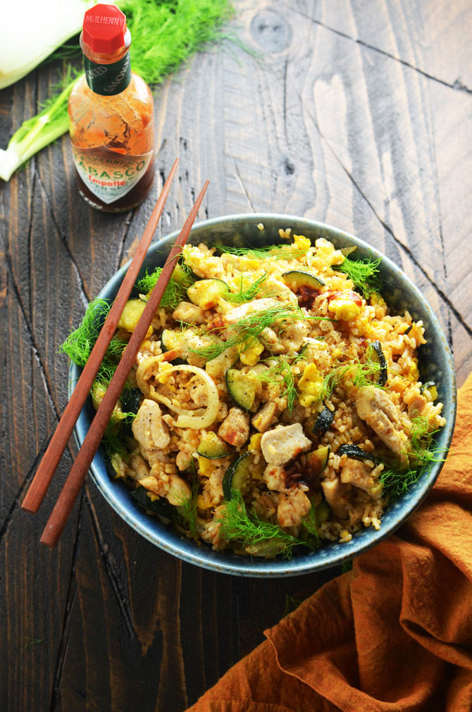 Chipotle Chicken Fried Rice - Host The Toast