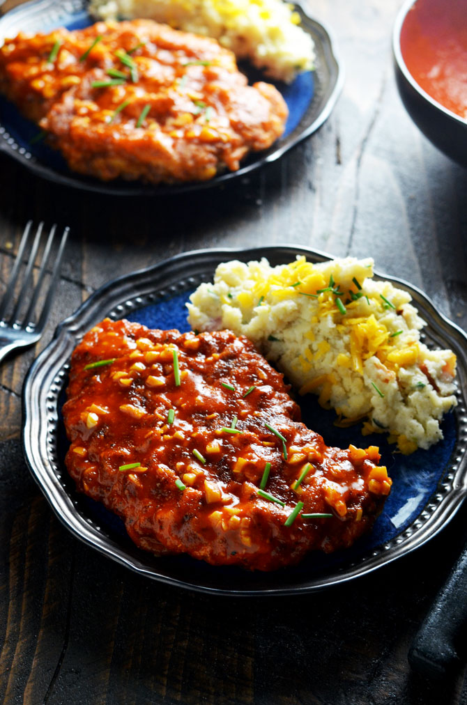 Spicy Garlic Crunch Chicken. Garlicky hot sauce-dipped, double-coated chicken breasts transform the tastiest hot wings into an entree. | hostthetoast.com