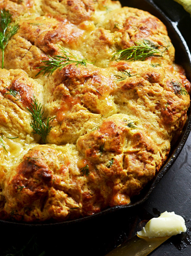 Dubliner-Dill Skillet Irish Soda Bread