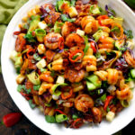 Smoky Shrimp Pasta Salad with Chipotle-Honey Vinaigrette